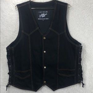 Jafrum Motorcycle Gear Large Jean vest